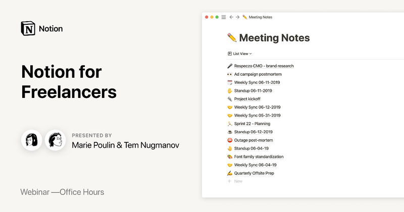 Notion Office Hours: Notion for Freelancers 🖇 - Crowdcast