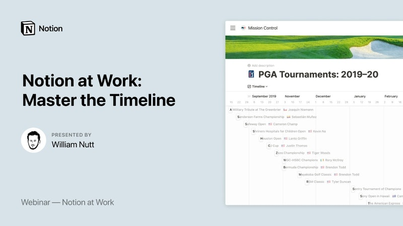 Notion at Work: Master the Timeline View - Crowdcast