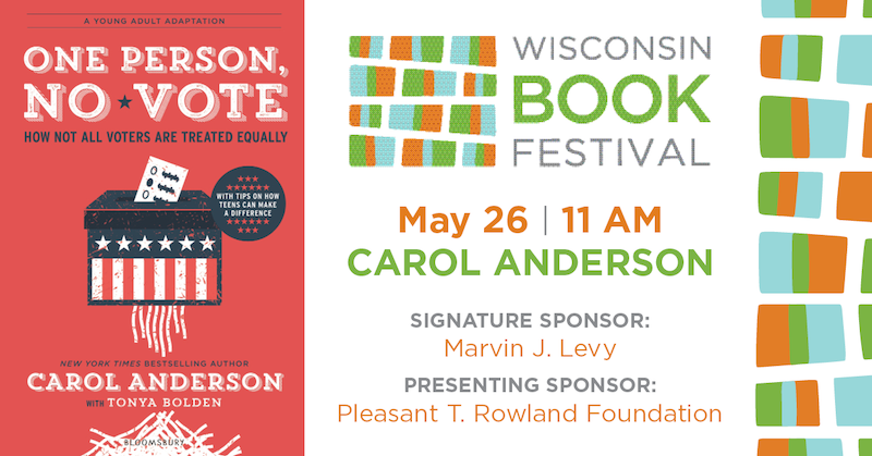 Wisconsin Book Festival: One Person No Vote author event